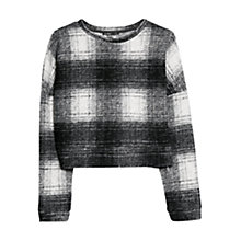 Buy Mango Check Jumper, Black Online at johnlewis.com