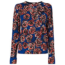 Buy L.K. Bennett Joe Rose Print Crew Neck Jumper, Rose Online at johnlewis.com