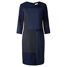 Buy Jigsaw Herringbone Patchwork Dress, Blue Online at johnlewis.com
