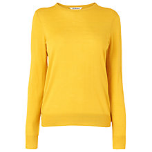 Buy L.K. Bennett Bresto Crew Neck Jumper, Mustard Online at johnlewis.com
