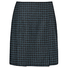 Buy L.K. Bennett Selene Pleat Detail Skirt, Navy Online at johnlewis.com