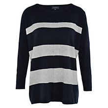 Buy Viyella Supersoft Stripe Jumper, Grey Online at johnlewis.com