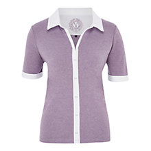 Buy Viyella Petite Heather Polo Shirt, Heather Online at johnlewis.com