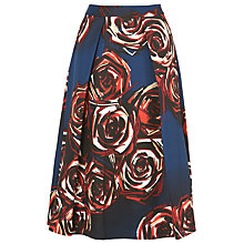 Buy L.K. Bennett Joe Rose Print Full Skirt, Rose Online at johnlewis.com