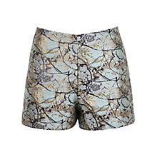 Buy Miss Selfridge Petite Jacquard Shorts, Turquoise Online at johnlewis.com