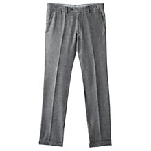 Buy Jigsaw Cotton Fil A Fil Slim Fit Trousers, Grey Online at johnlewis.com