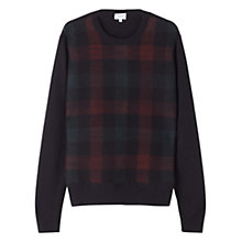 Buy Jigsaw Needle Punch Merino Crew Neck Jumper, Multi Online at johnlewis.com