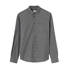 Buy Jigsaw Open Check Flannel Placket Slim Fit Shirt, Grey Online at johnlewis.com