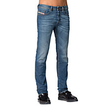 Buy Diesel Buster 837I Tapered Jeans, Medium Blue Online at johnlewis.com