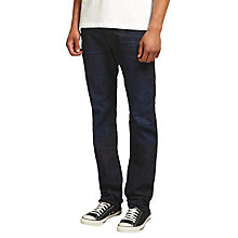 Buy Diesel Buster Tapered Jeans, Dark Blue 823K Online at johnlewis.com