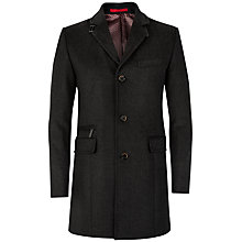 Buy Ted Baker Mormont Wool Mix Coat, Charcoal Online at johnlewis.com