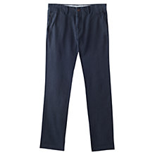 Buy Jigsaw Cotton Twill Trousers, Dark Navy Online at johnlewis.com