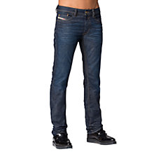 Buy Diesel Waykee 837N Straight Jeans, Mid Blue Online at johnlewis.com