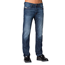 Buy Diesel Buster 838B Tapered Jeans, Mid Blue Online at johnlewis.com