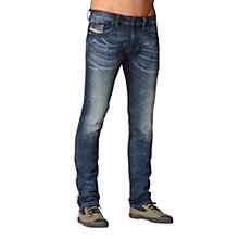 Buy Diesel Thavar Jogg 600S Jeans, Med Blue Online at johnlewis.com
