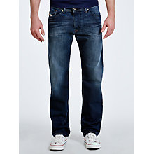 Buy Diesel Darron 837K Tapered Jeans, Grey Blue Online at johnlewis.com