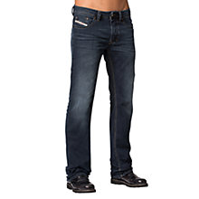 Buy Diesel Larkee 837K Straight Jeans, Mid Blue Online at johnlewis.com