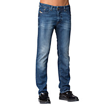 Buy Diesel Darron 0836X Tapered Jeans, Mid Blue Online at johnlewis.com