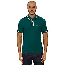 Buy Original Penguin Solid Earl Polo Shirt, Forest Green Online at johnlewis.com