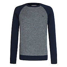 Buy Original Penguin Fino Raglan Contrast Jumper, Navy Online at johnlewis.com