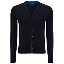 Buy John Smedley Farne Tipped Cardigan, Midnight Blue/Maritime Blue Online at johnlewis.com