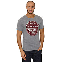 Buy Original Penguin Champs Basketball T-Shirt, Rain Heather Online at johnlewis.com