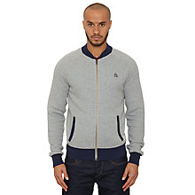 Buy Original Penguin Zip-Up Jersey Track Top, Grey Online at johnlewis.com