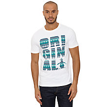 Buy Original Penguin Fair Isle Print T-Shirt, Bright White Online at johnlewis.com