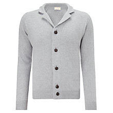 Buy John Smedley Gowan Imperial Wool Cardigan, Silver Online at johnlewis.com