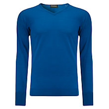 Buy John Smedley Bobby Merino Wool Jumper, Maritime Blue Online at johnlewis.com