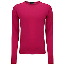 Buy John Smedley Marcus Merino Wool Jumper, Pink Online at johnlewis.com