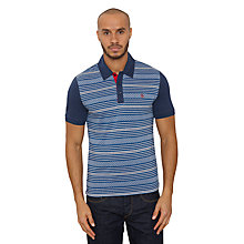 Buy Original Penguin Fair Isle Polo Shirt, Dress Blue Online at johnlewis.com