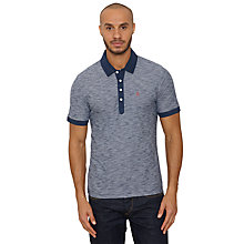 Buy Original Penguin Slub Cotton Feeder Polo Shirt, Dress Blue Online at johnlewis.com