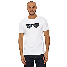 Buy Original Penguin Hula Sunglasses Printed T-Shirt, White Online at johnlewis.com