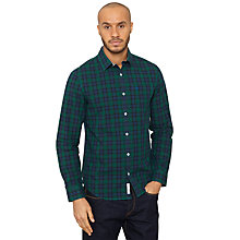 Buy Original Penguin Fae Check Shirt, Botanical Green Online at johnlewis.com