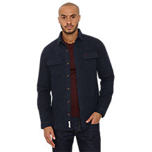Buy Original Penguin Fuzz Heavy Fleck Over Shirt, Navy Online at johnlewis.com
