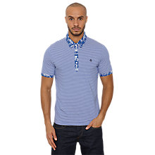 Buy Original Penguin Palm Hawaiian Polo Shirt, Mazarine Blue Online at johnlewis.com