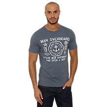 Buy Original Penguin Man Overboard Cotton T-Shirt, Navy Online at johnlewis.com