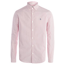 Buy Original Penguin Dressy Fine Stripe Oxford Shirt, Jester Red Online at johnlewis.com