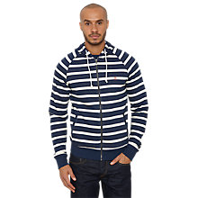 Buy Original Penguin Boor Striped Yarn Die Hoodie, Navy Online at johnlewis.com
