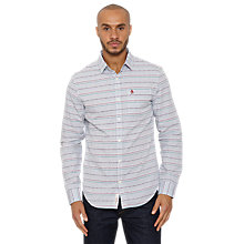 Buy Original Penguin Flox Stripe Cotton Shirt, Grey/Multi Online at johnlewis.com
