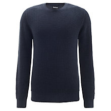 Buy Barbour Tobay Knitted Crew Neck Jumper, Navy Online at johnlewis.com