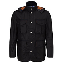 Buy Barbour Soltan Wax Field Jacket, Navy Online at johnlewis.com