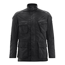 Buy Barbour International Selkirk Waxed Jacket, Black Online at johnlewis.com