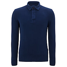 Buy Barbour Laundryman Laundered Knitted Rugby Shirt Online at johnlewis.com