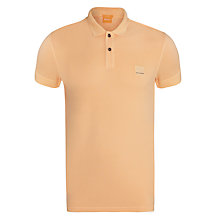 Buy BOSS Orange Pascha Polo Shirt, Orange Online at johnlewis.com