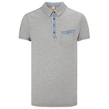 Buy BOSS Orange Phago Cotton Polo Shirt, Grey Online at johnlewis.com