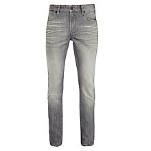 Buy BOSS Orange Orange90 Check Straight Jeans, Grey Online at johnlewis.com