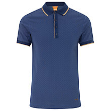 Buy BOSS Orange Plynx Polo Shirt, Sky Captain Online at johnlewis.com