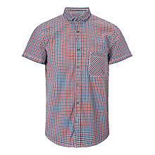 Buy BOSS Orange Ezippo Gingham Cotton Shirt, Red/Purple Online at johnlewis.com